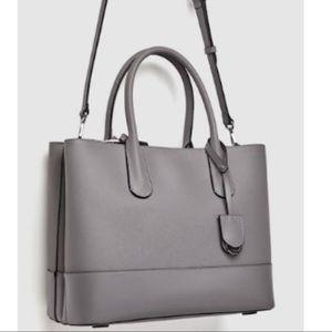 👜 BLACK ZARA CITY BAG (laptop briefcase purse)